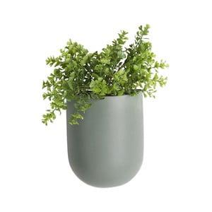 Matowa zielona ceramiczna doniczka wisząca PT LIVING Oval