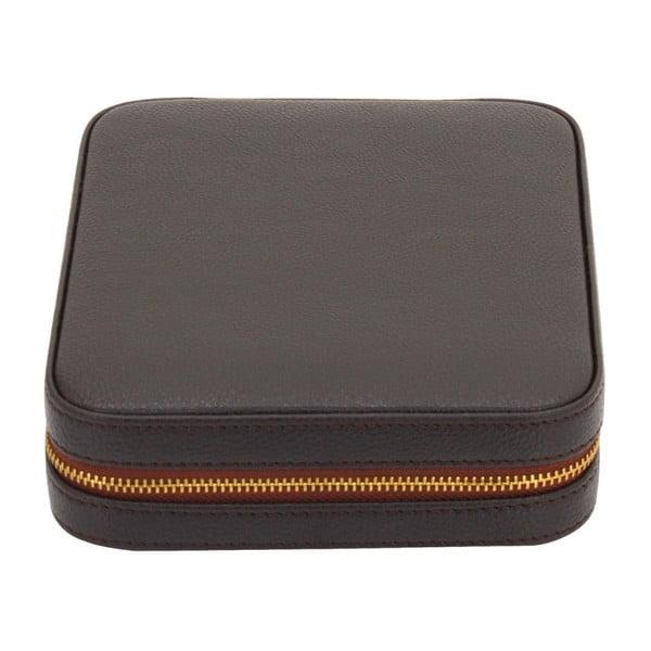 Brązowy kuferek na biżuterię Ascot
