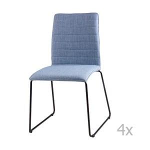 Zestaw 4 jasnoniebieskich krzeseł sømcasa Vera