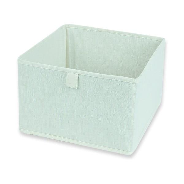 Białe pudełko materiałowe Drawer White, 28x28 cm