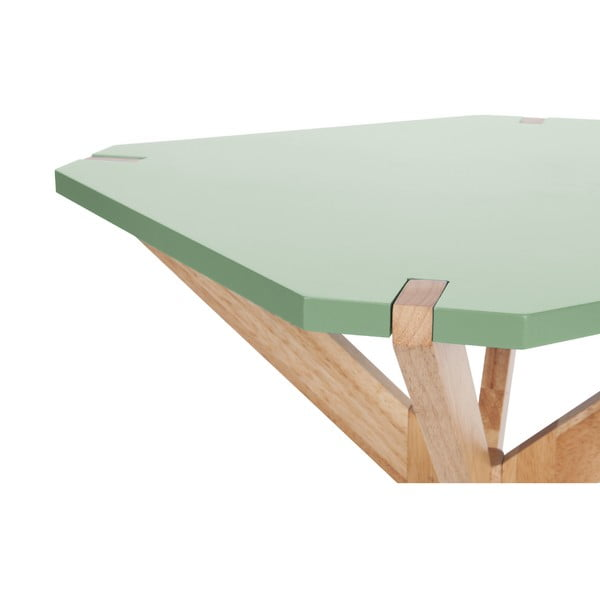 Miętowy stolik Leitmotiv Mister, 65x65 cm