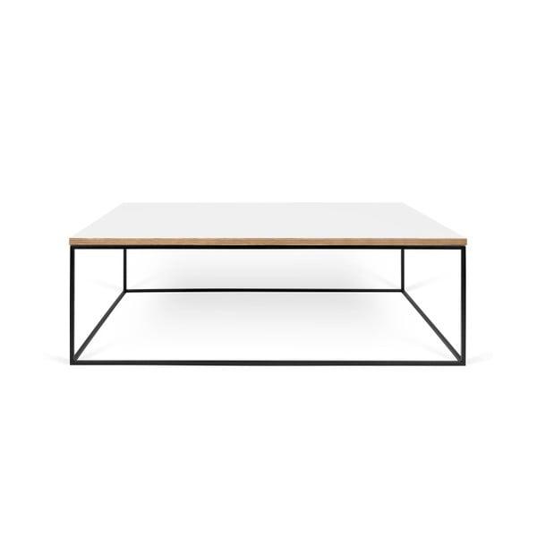 Biały stolik z czarnymi nogami TemaHome Gleam, 120 cm