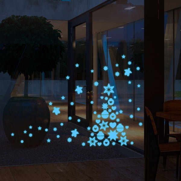 Fluorescencyjna naklejka Blue Christmas