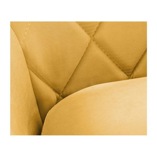 Musztardowa sofa 2-osobowa Scandi by Stella Cadente Maison Diva