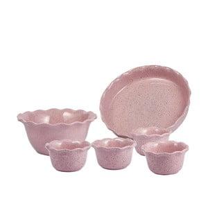 Zestaw ceramicznej miski, formy i 4 foremek ramekin Sweets
