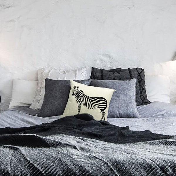 Poszewka na poduszkę Zebra, 45x45 cm