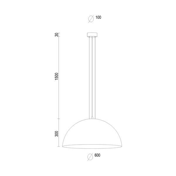 Srebrna lampa wisząca Bulb Attack Cuatro XL
