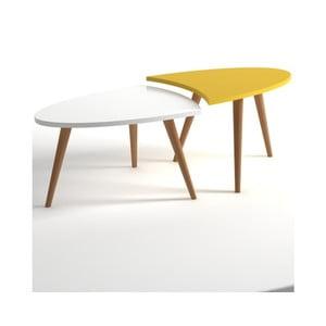 Żółto-biały stolik Monte Real