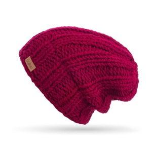 Burgundowa ręcznie tkana czapka DOKE Mina