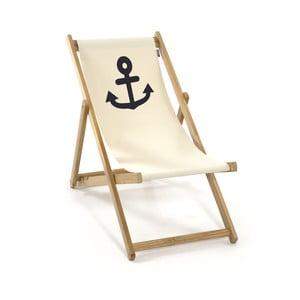 Składany leżak Beach, biały