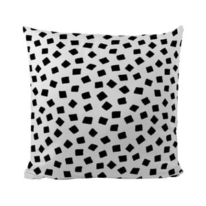 Poduszka Black Shake Little Squares, 50x50 cm