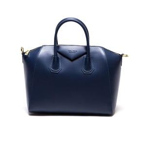 Skórzana torebka Anna Luchini 385 Blu