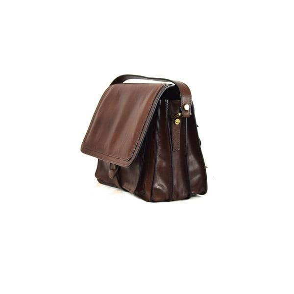 Skórzana torebka Santo Croce 132089 Dark Brown