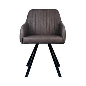Antracytowe krzesło LABEL51 Floor
