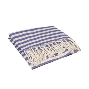 Fioletowy ręcznik hammam Akasya Purple, 90x190cm