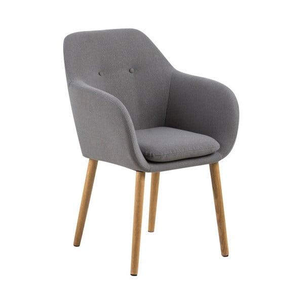 Jasnoszare krzesło Actona Emilia