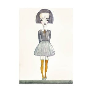 Plakat autorski: Léna Brauner Na spacerze, 45x60 cm