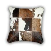 Poduszka skórzana Cow, 45x45 cm