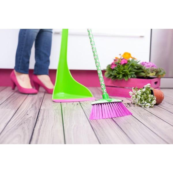 Zielono-różowa szczotka Vigar Flower Power