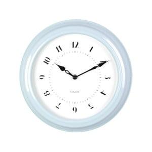 Niebieski zegar ścienny Present Time Fifties, średnica 30cm