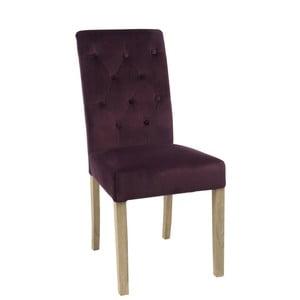 Bordowe   aksamitne krzesło Aubergine
