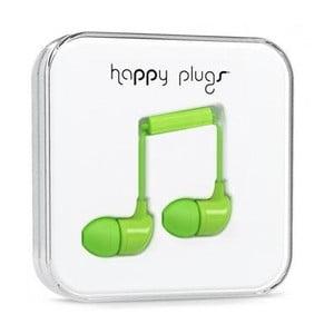 Słuchawki dokanałowe Happy Plugs, zielone
