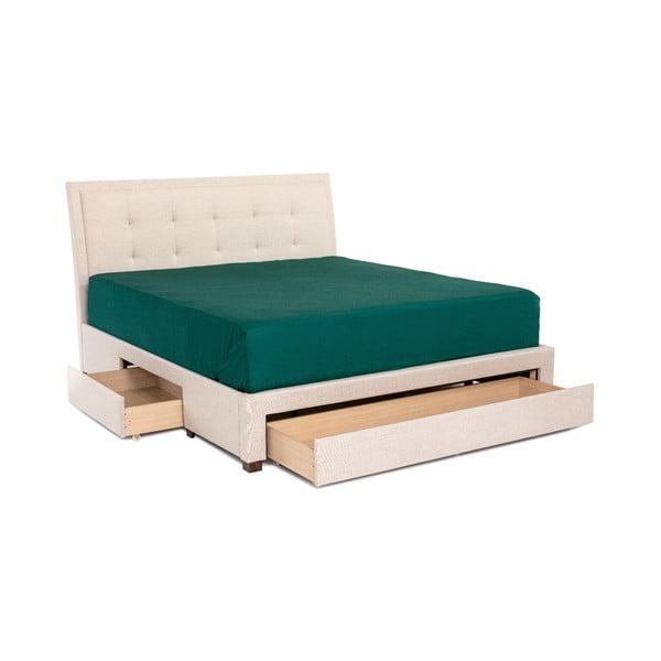 Beżowe łóżko 2-osobowe Chez Ro Andover, 180x200 cm