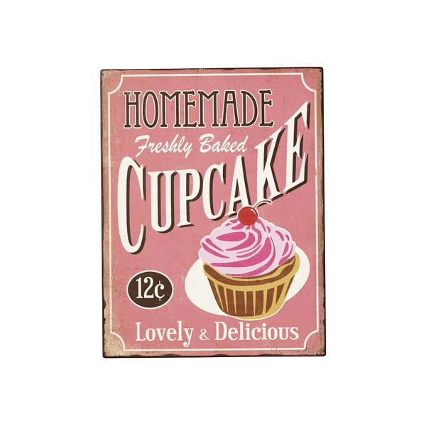 Blaszana tabliczka Home Cupcake, 40x31 cm