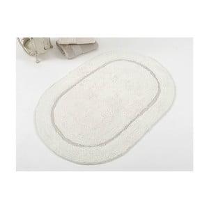 Jasnoszary ręcznie tkany dywanik łazienkowy z bawełny premium Garlen, 50x75 cm
