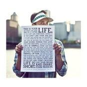 Plakat Manifesto White, 30x41 cm
