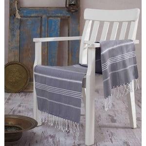 Szary ręcznik Hammam Sultan , 100x180 cm