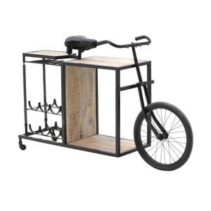 Stolik barowy ze stojakiem na butelki InArt Bicycle