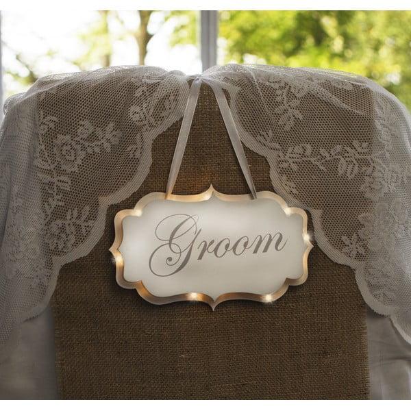 Dekoracja ślubna z lampką LED Groom
