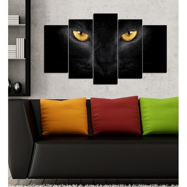 5-częściowy obraz Kocie oczy