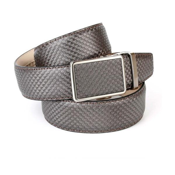 Pasek skórzany męski 17B70 Grey, 110 cm