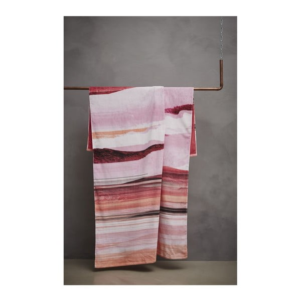 Ręcznik Essenza Mooa Pink, 100x180 cm
