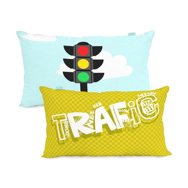 Bawełniana poszewka na poduszkę Mr. Fox Traffic, 50x30 cm
