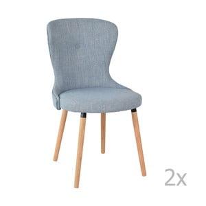 Zestaw 2 krzeseł Ordinary, szaroniebieskie