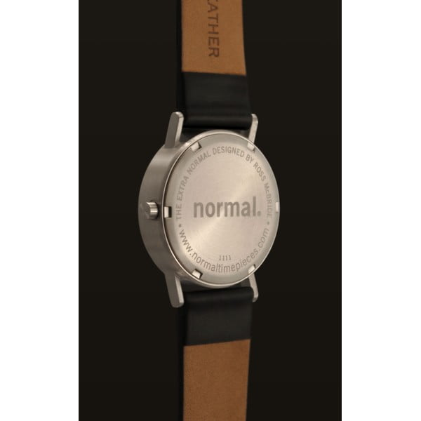 Zegarek Extra Normal Black Leather, 32 mm