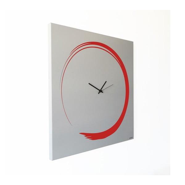 Zegar ścienny dESIGNoBJECT.it Enso Clock Red,50x50cm