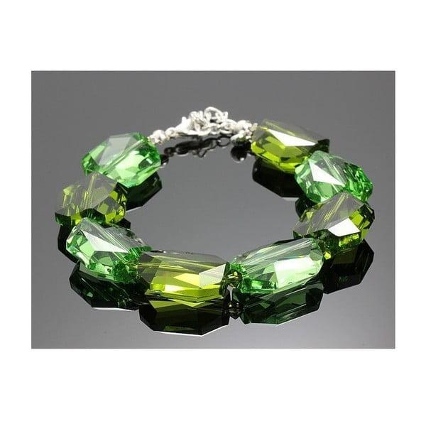 Bransoletka Swarovski Elements Large Drops Green