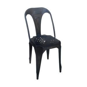 Metalowe krzesło retro Sofian, czarne