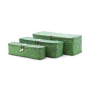 Zestaw 3 pudełek Seagrass Green