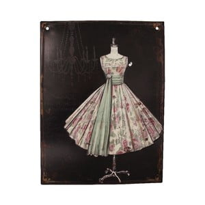 Tabliczka metalowa Antic Line Prom Dress