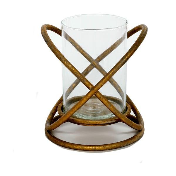 Świecznik metalowy Golden, 20x20x23 cm