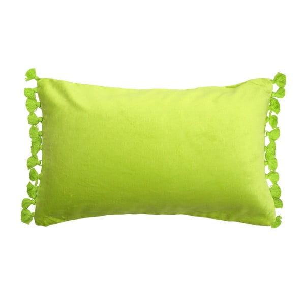 Poduszka Terry Velvet Lime Tassle