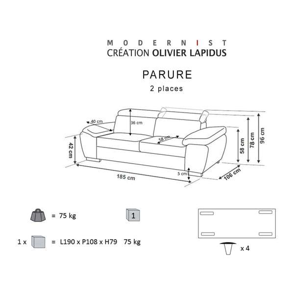 Niebieska sofa Parure