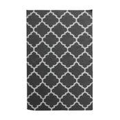 Czarny dywan wełniany Elizabeth, 90x60 cm