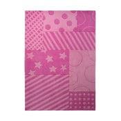 Dywan Esprit Stars Stripes Pink, 70x140 cm