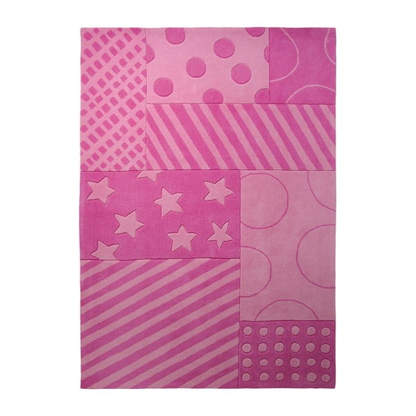 Dywan Esprit Stars Stripes Pink, 90x160 cm